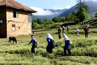School children at Lolab valley, Jammu and Kashmir, India on 1st July 2013. (Photo: Sanjay Rawat/Outlook).