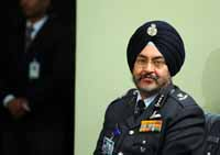 The newly appointed Air Marshal BS Dhanoa after a press conference at Akash Officers' Mess in New Delhi, India on 28th December 2016. (Photo: Jitender Gupta/Outlook).