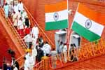 Ministers and delegates leave the historic Red Fort after attending the 62nd Independence Day celebrations, in New Delhi on 15th August 2009.