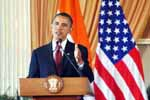 US President Barack Obama during a joint press conference at Hyderabad House, New Delhi, India on 8th November 2010.(Photo : Jitender Gupta/Outlookk)
