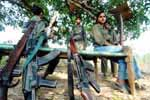 Naxal Cadres at Dantewada district, Chhattisgarh on 4th February 2010.