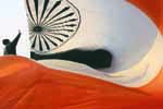 Man with Indian National Flag