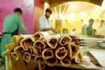 Rolls (food) at Nizam's restaurant, Market Square (now Chaplin Square), Kolkata, West Bengal (Photo : Sandipan Chatterjee)