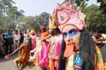 Dressed as Hindu god during a Tribal Protest at Jantar Mantar, New Delhi on 30th November 2009. (Photo : Sanjay Rawat)
